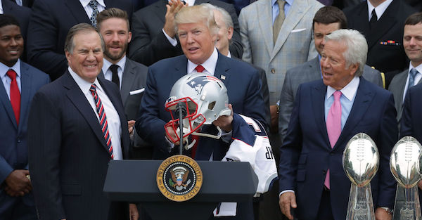 Owner of the Patriots publicly and strongly condemns remarks by President Trump
