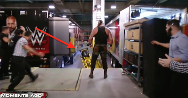 Braun Strowman beat the hell out of Roman Reigns, tossed him off a ledge and flipped an ambulance