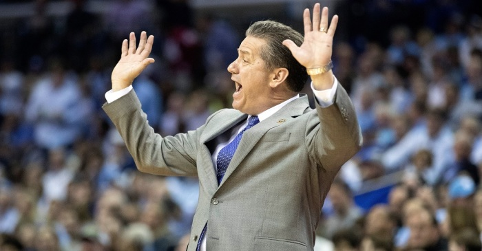Coach Cal celebrates landing five-star SF Kevin Knox the only way he knows how
