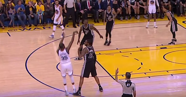 Did LaMarcus Aldridge get caught trying to take out Kevin Durant?