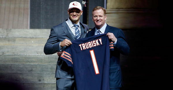 After taking Mitch Trubisky No. 2 overall, Chicago Bears announce their starting QB