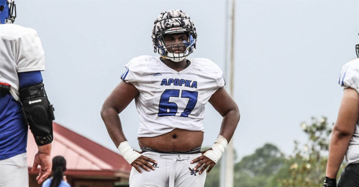 Four-star and 312-pound OT William Barnes says two schools are on him the hardest