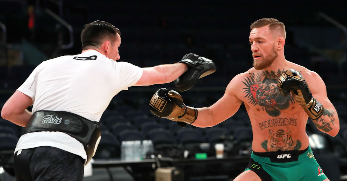 Try not to laugh at Conor McGregor's response video to Floyd Mayweather's workout