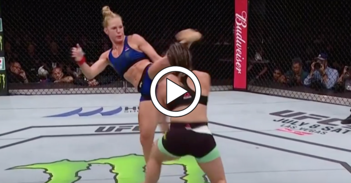 Holly Holm Delivers Devastating Head Kick to Taunting Opponent