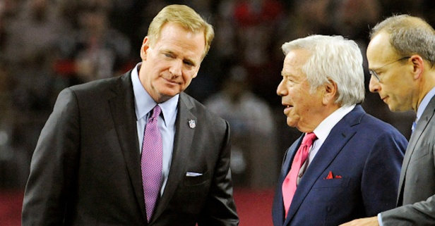 Patriots owner Robert Kraft shipped off to France and called out NFL commish Roger Goodell
