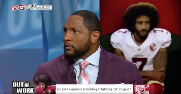 Ray Lewis calls out Colin Kaepernick in a big way during his debut on FOX Sports