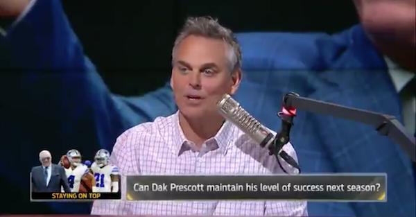 Colin Cowherd explains why Cowboys' Dak Prescott is due for a setback in 2017-18