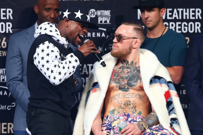 Conor McGregor's latest jab at Floyd Mayweather involved bringing up his domestic violence charge