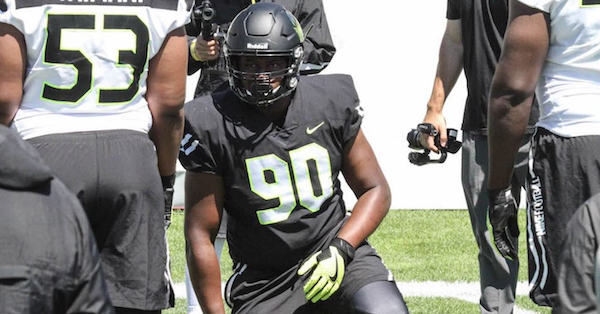 Four Star DL Rick Sandidge reveals which three coaches are recruiting him the hardest