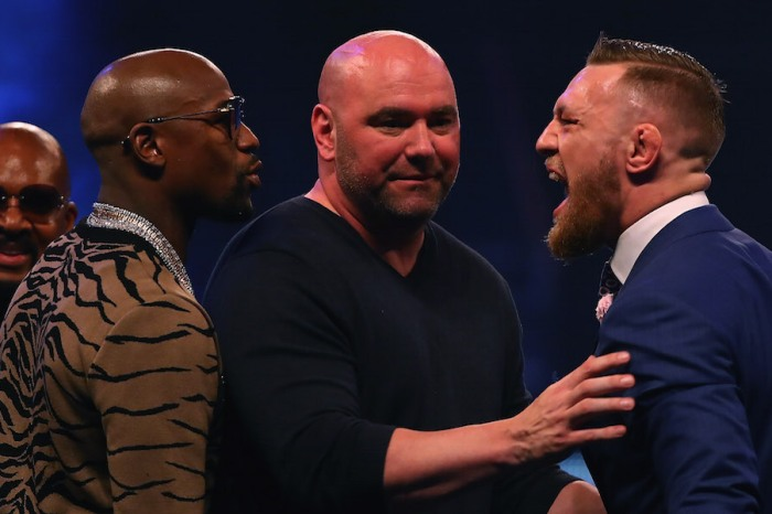 Floyd Mayweather is apparently serious about getting his face kicked in with the UFC