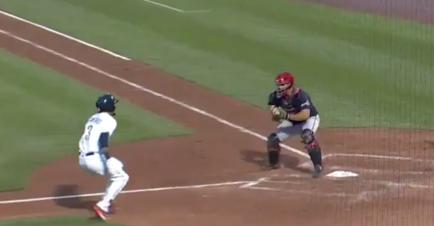 Inside-the-park grand slam capped by the worst tag attempt of all-time