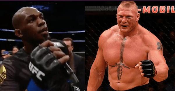 Jon Jones calls out WWE champion Brock Lesnar after knocking out Daniel Cormier