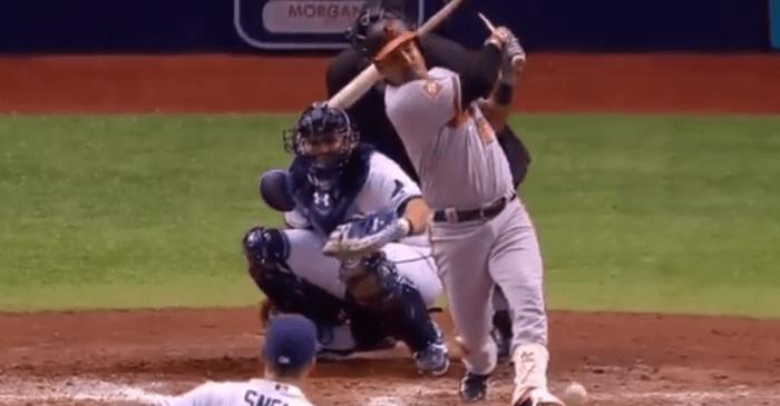 Tampa Bay catcher gets hit in the head with a broken bat, needs staples in his head