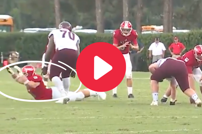"""HS Lineman's """"Worm"""" Trick Play Somehow Worked Perfectly"""