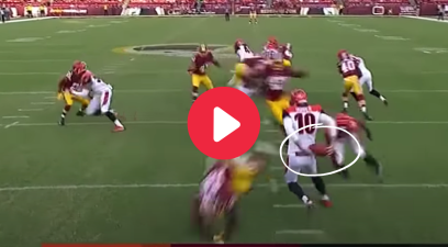 NFL Punter's Behind-the-Back Juke Sent a Defender Flying