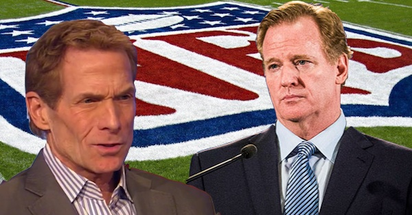"Skip Bayless tears into ""foolish, incompetent"" Roger Goodell"