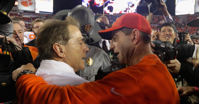 Dabo Swinney responds to speculation that he could replace Nick Saban at Alabama
