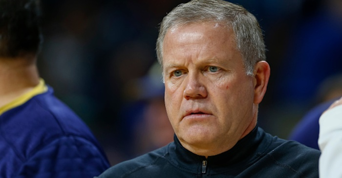 Former player has filed a lawsuit against Notre Dame, Brian Kelly