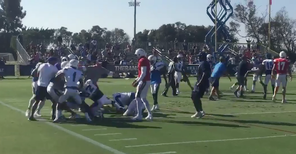 NFL teams squared off in a huge brawl during a joint practice