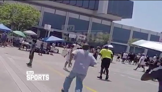Heckler shoved a former 7-time NBA champ, and he responded with a flurry of punches