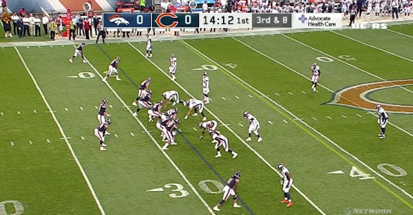 Mike Glennon's second pass attempt as Chicago Bears starter was a disaster