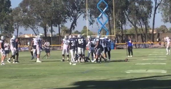 Cowboys starter had to be carted off the field after suffering a training camp injury