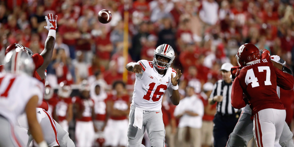 Rival Big Ten coach took a shot at Ohio State QB J.T. Barrett following Week 1