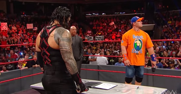 "John Cena talks on his real-life ""hangup"" with Roman Reigns being a top guy for WWE"