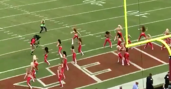 Cameraman Levels NFL Cheerleader, And She Takes It Like a Champ