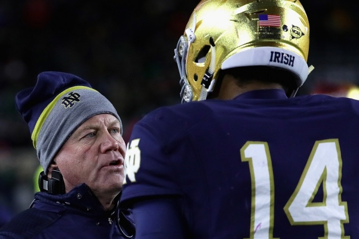 Brian Kelly forced to eat his words about NFL-ready former quarterback DeShone Kizer