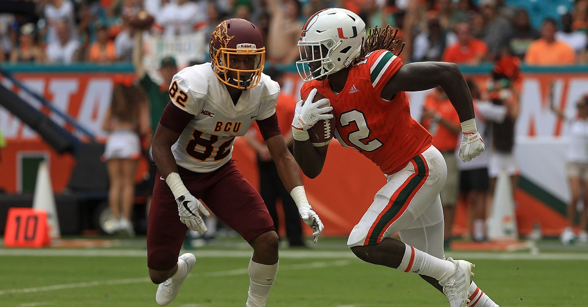 Miami player under fire after comments on opposing quarterback