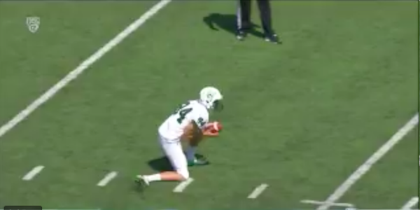 Another poor punter shows what not to do during a kick attempt