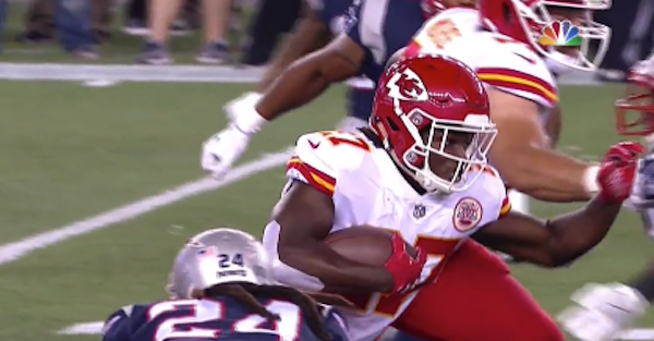 Rookie running back fumbled on his first NFL carry