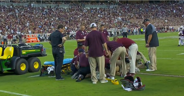 SEC player carted off after horrifying injury left him motionless on the field