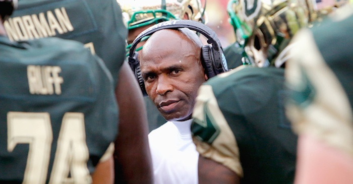 Charlie Strong reportedly 'trying to get his name in the mix' for two jobs after only one year at USF