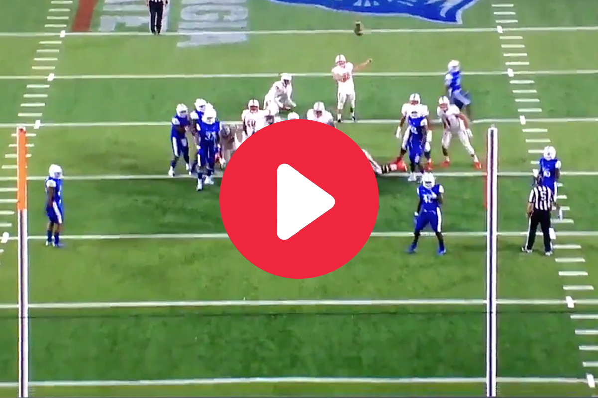 College Kicker's 3-Bounce Field Goal Squeaks Through the Uprights