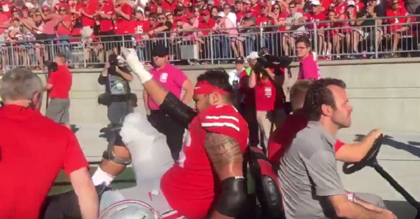 Dire diagnosis comes out after key Ohio State starter is carted off field and leaves by ambulance
