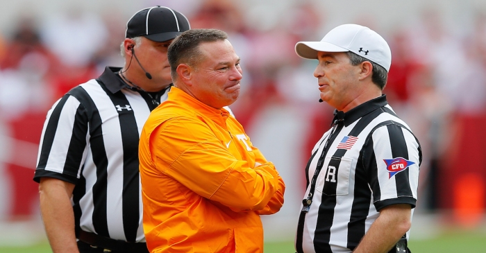 Former Tennessee head coach Butch Jones in talks to join national championship contender