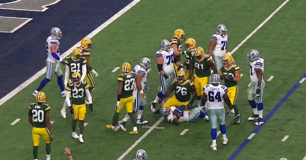 Another player stood too close to a live mic and Cowboys-Packers got very NSFW