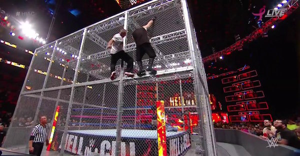 WWE Hell in a Cell 2017 Results: McMahon leaps, new champions crowned, Mahal survives