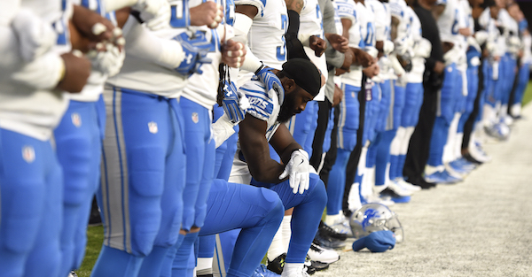 Fans reportedly sent despicable threats to a Detroit Lions linebacker over anthem protests