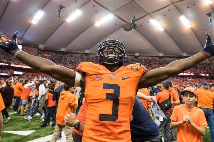Syracuse fan who rushed the field after beating Clemson is apparently dealing with the massive consequences of his decision