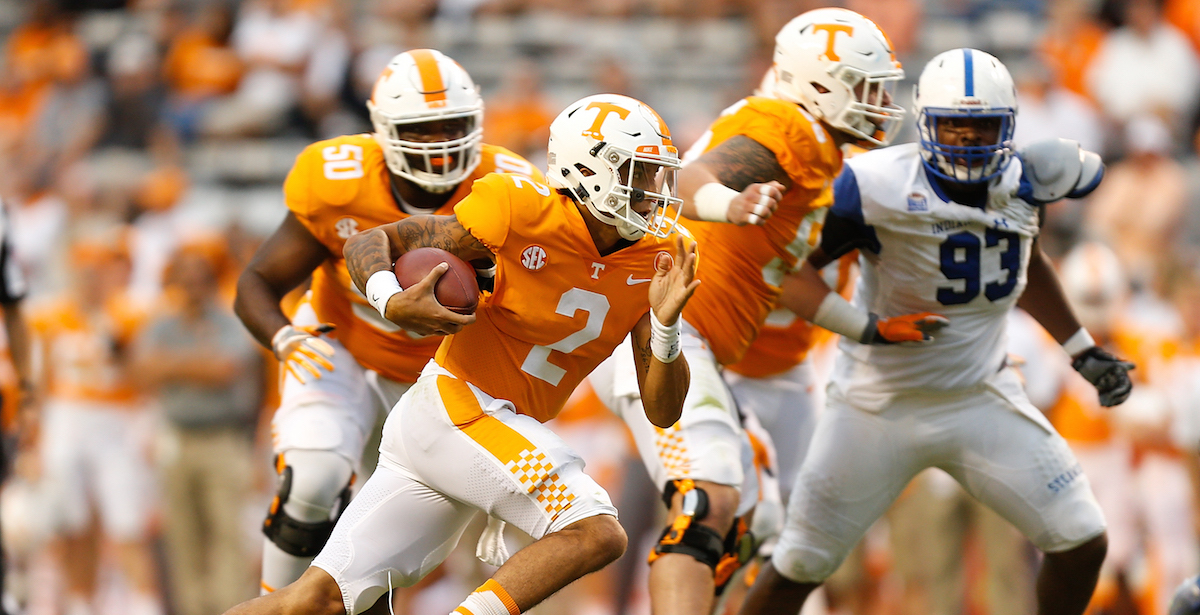 Tennessee reportedly making QB change for South Carolina game