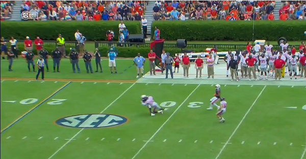 Ole Miss player ejected after vicious and dirty hit on punt returner