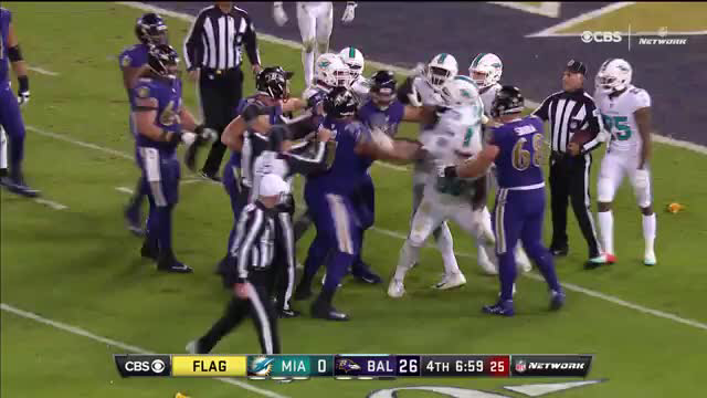 Fists fly on Thursday Night Football after one of the league's dirtiest players choke slammed a QB