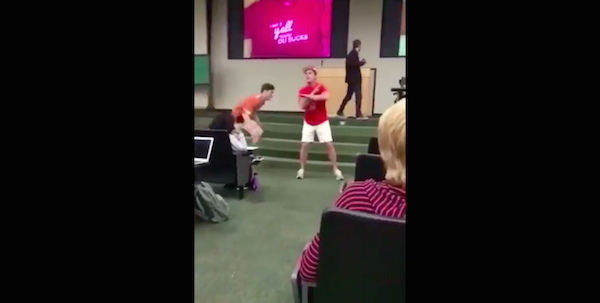 Trash-talking Oklahoma fan tackled in Texas classroom ahead of Red River Rivalry Game