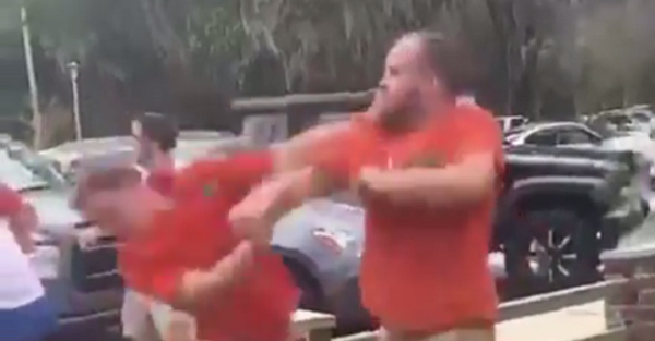 Two Florida fans exchange haymakers in brutal fight before LSU game