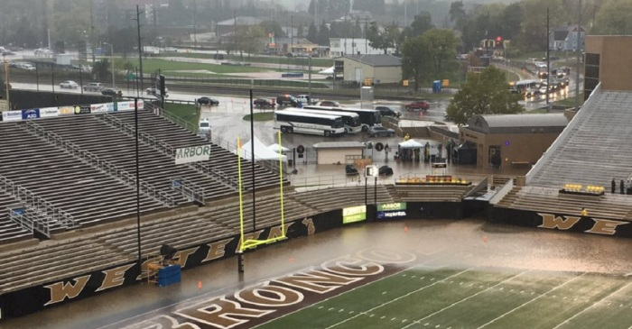 College game postponed after field conditions make play impossible