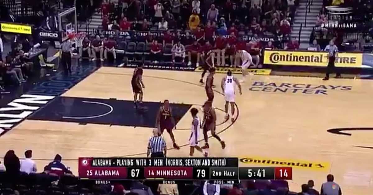 Alabama Played 3-on-5 and Nearly Completed the Greatest Comeback Ever
