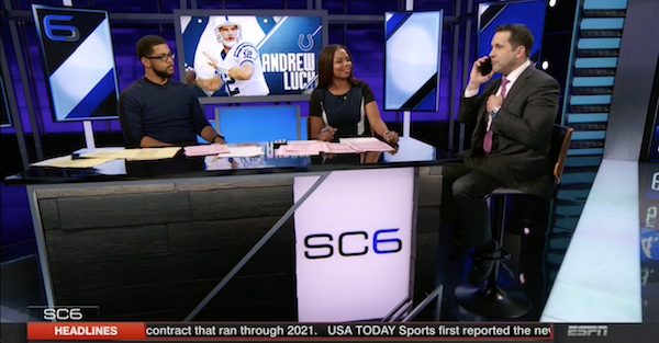 Watch Adam Schefter silence the SportsCenter crew for a solid 20 seconds